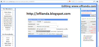 setting CNAME blogger 1