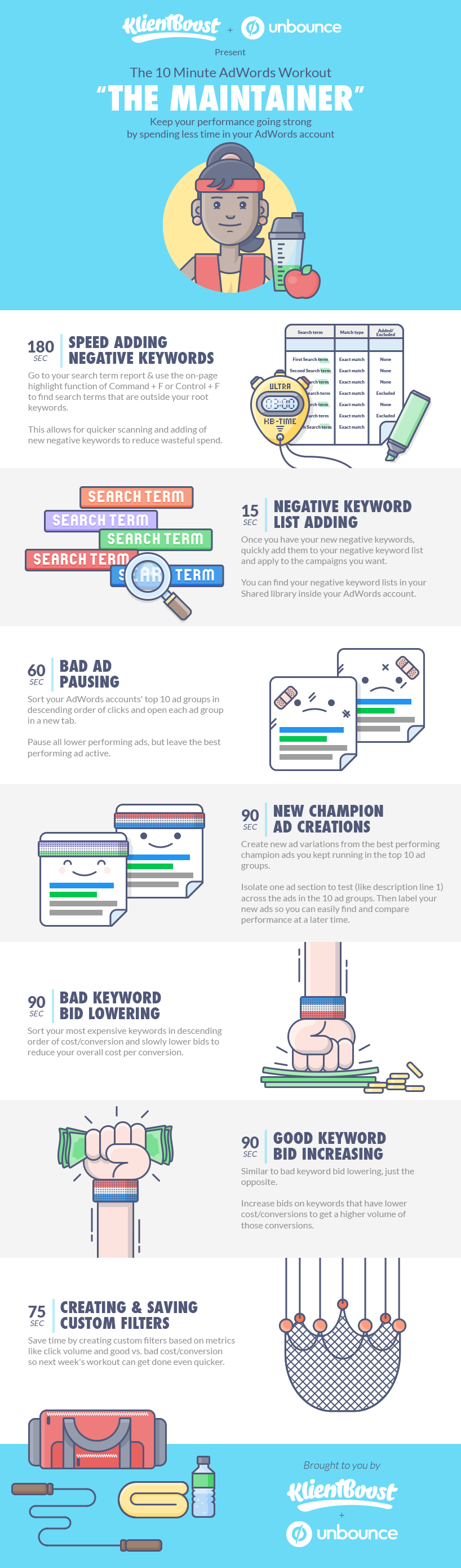 The 10 Minute AdWords Management Workouts #infographics