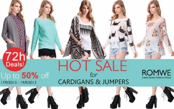 tendencia Cardigans e sweaters estampados em promoção