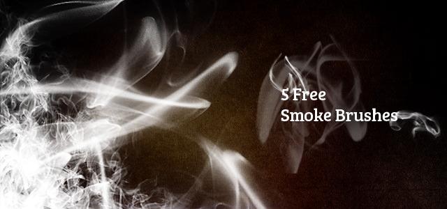 煙を使ったフリーのブラシ素材いろいろ。リアルな質感でデザインのワンポイントに。