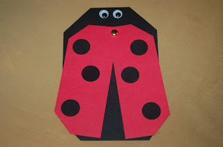 homemade ladybug bug birthday invitation