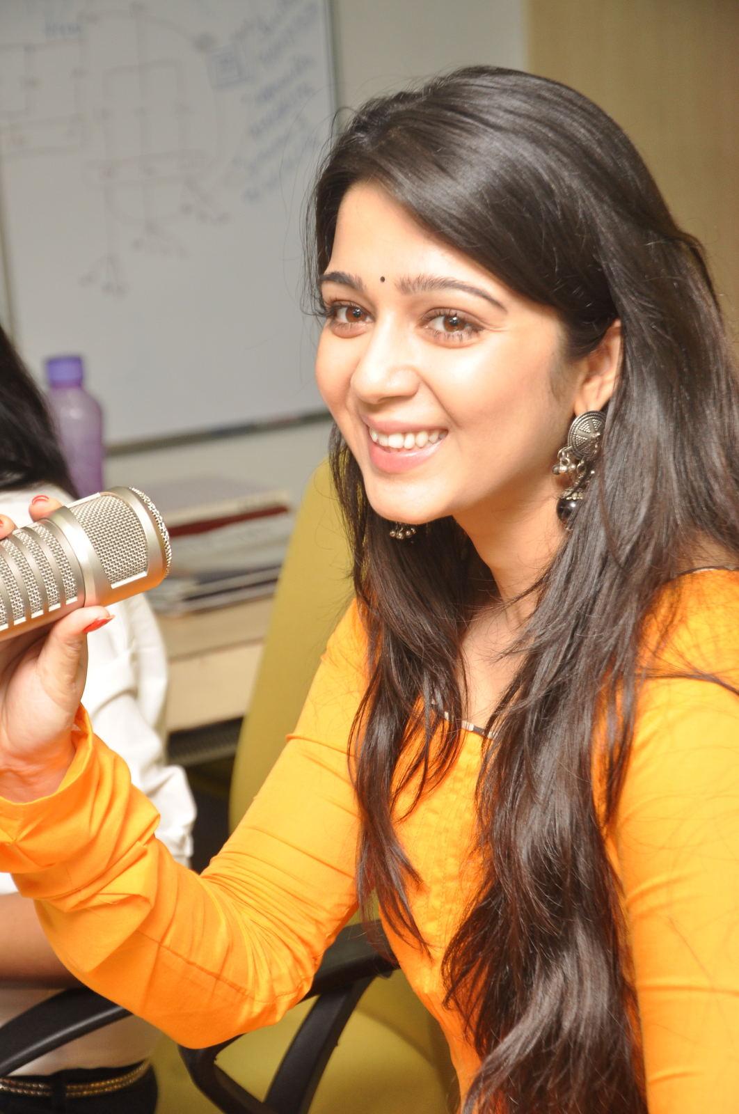 cute gorgeous Charmi at radio mirchi fm radio station for prema oka maikam promotion