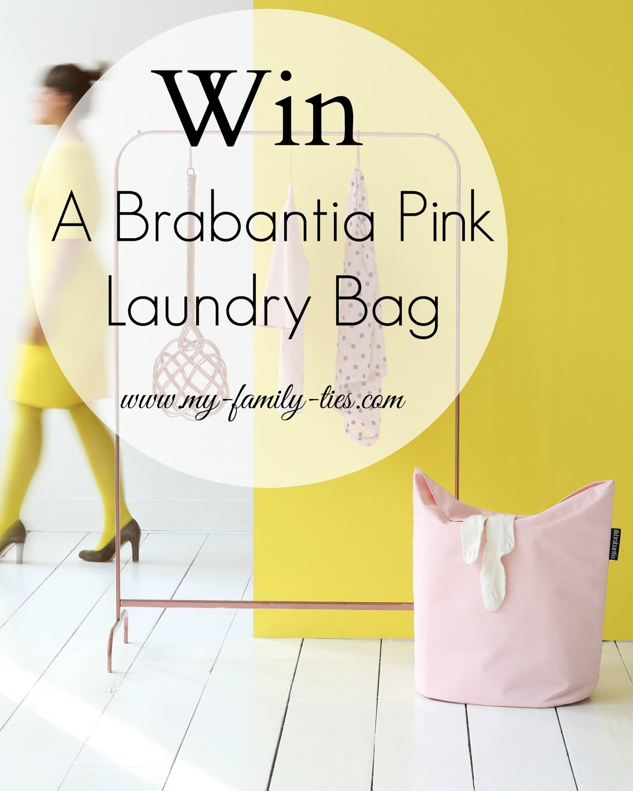 Win A Brabantia Pastel Pink Laundry Bag With My Family Ties Blog www.my-family-ties.com