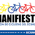 Ciclistas de Ecuador se unen para impulsar deporte seguro.
