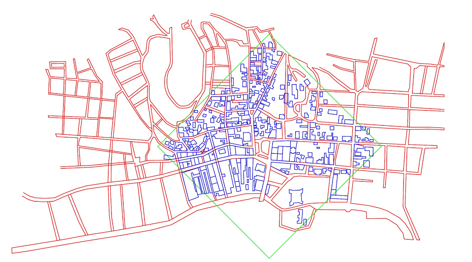 this is the most recent map from 2010 and shows the streets have been further densified this map also shows all of the buildings within the area that we