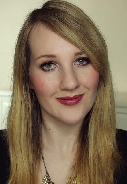 Jordana Grape lipstick swatches & review