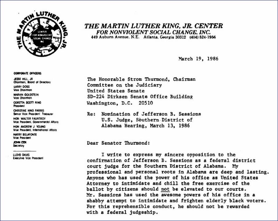 Coretta King S Letter On The Senate Floor