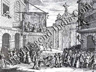 Hogarth spent his entire career, from his first independent engraving shown here, ridiculing what he considered the unquestioning dismissal of English writers, playwrights and artists in favour of 'foreigners'.