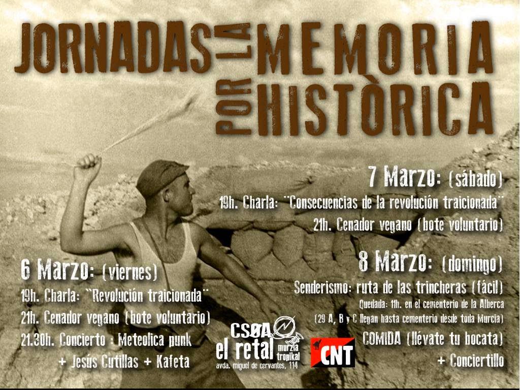 6, 7 y 8 de Marzo - Murcia