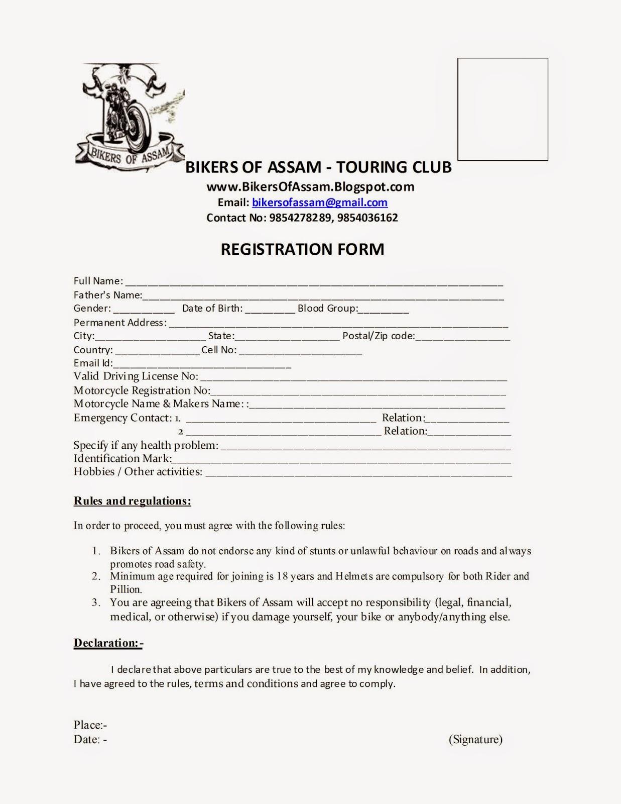 Doc10201320 Club Membership Form Template Word Club – Club Membership Form Template Word
