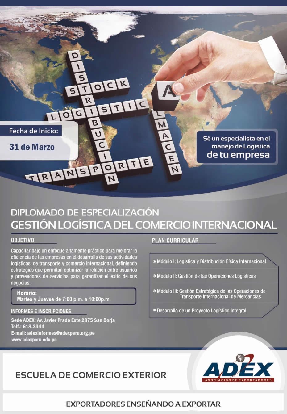 Peru Nace Educando Diplomado De Especializaci N En Gestion Log Stica Del Comercio Internacional