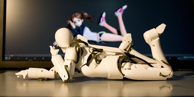 Qumarion hechado, mannequin Japonés para la manipulación de personajes en 3D