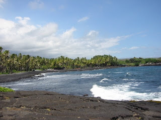 Punaluu Black Sands Beach photo