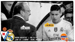 James, mejor centrocampista de la Liga sustituido frente al Eibar