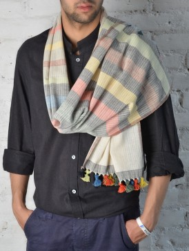 striped stylish men stole muflar scarf