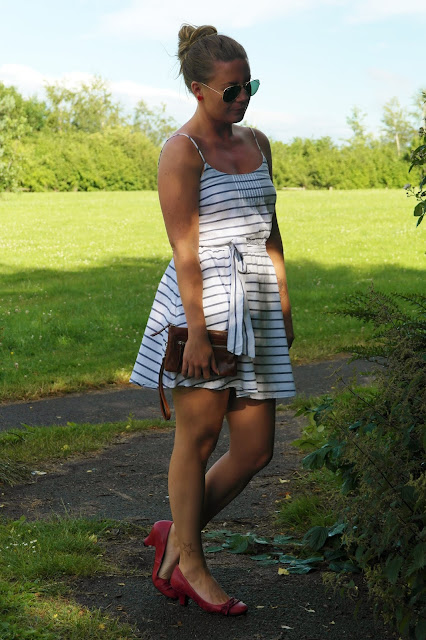stripy nautical dress