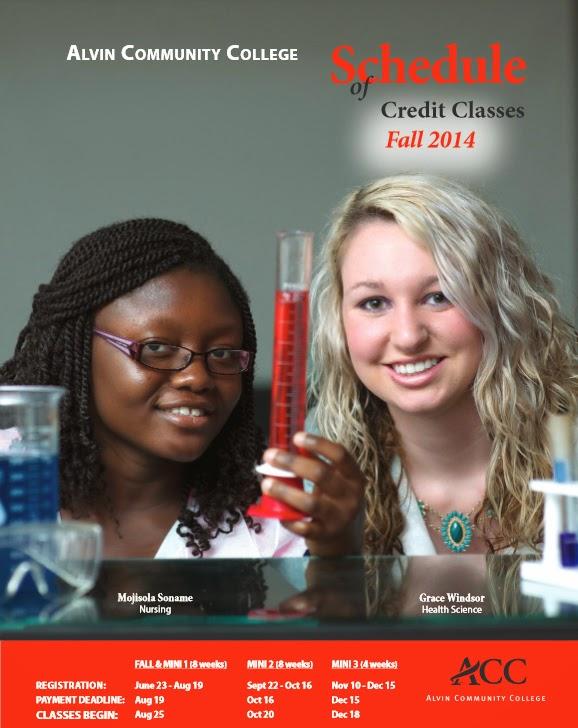 http://www.alvincollege.edu/ClassSchedules.aspx