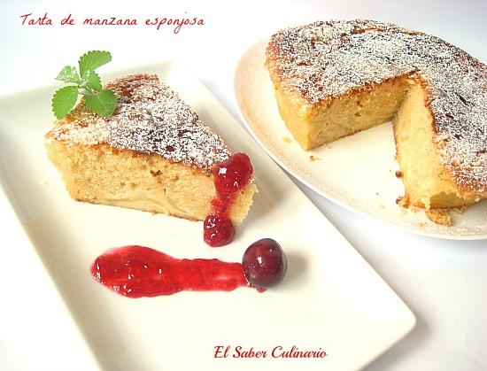 Receta De Cocina Tarta De Manzana | Tarta De Manzana Casera Y Muy Esponjosa Receta Paso A Paso El