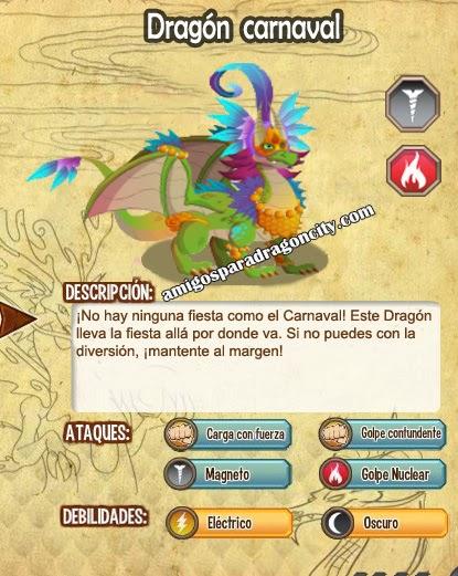 imagen de las caracteristicas del dragon carnaval