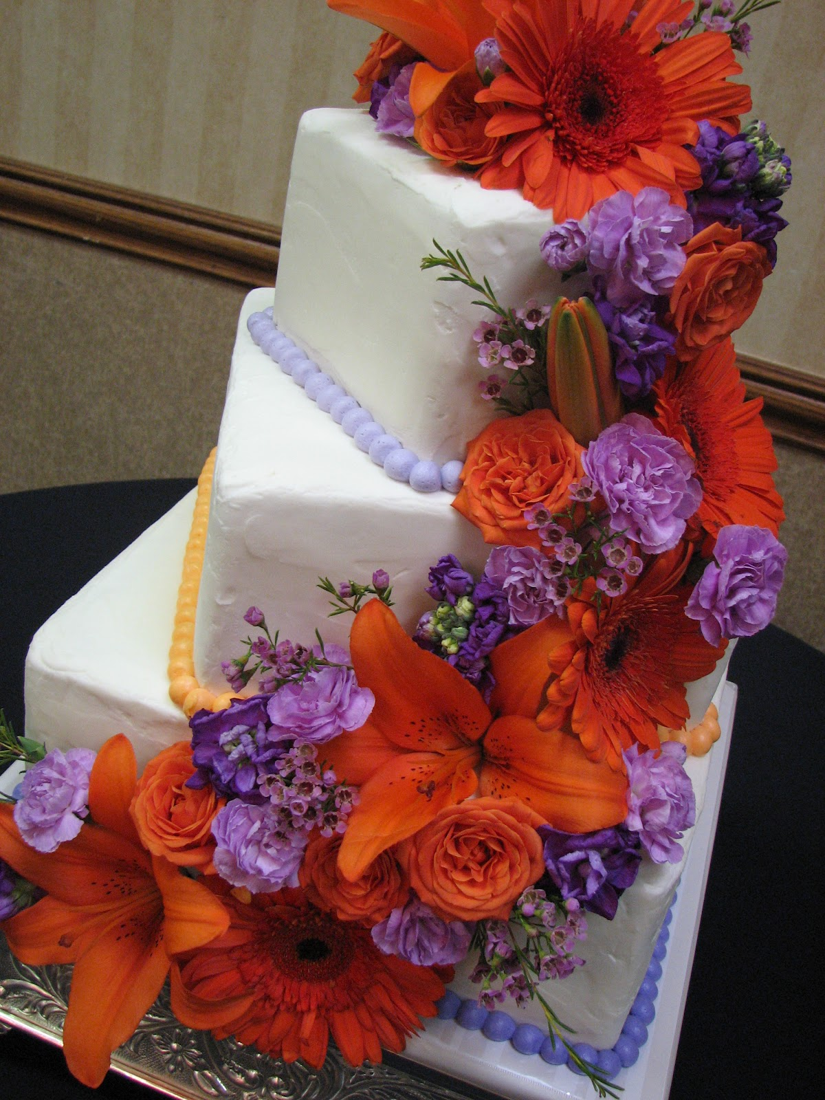 Decadent Designs: Crystal and Brandon\'s Purple and Orange Wedding