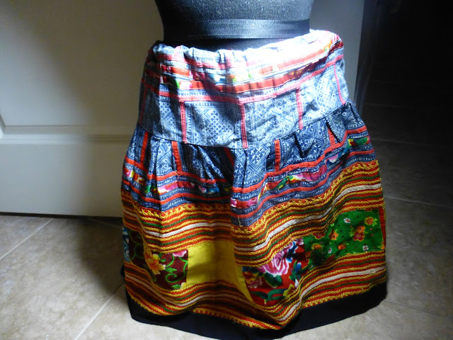 Handmade patchwork skirt