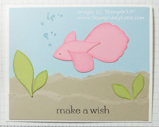 Punch Art Fish card made with Stampin'UP!'s Blossom Petal Punch