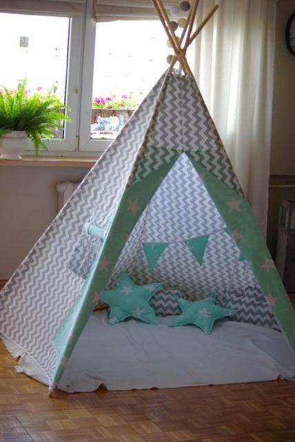 pięcioramiennne tipi, duży wigwam dla dzieci, tipi namiot, namiot dla dzieci
