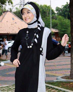 Zenitha Koleksi Busana Muslim Ukuran Big Size hitam abu misti