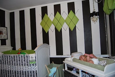 baby nursery decorating ideas with black and white theme