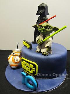 bolo decorado star wars bragança