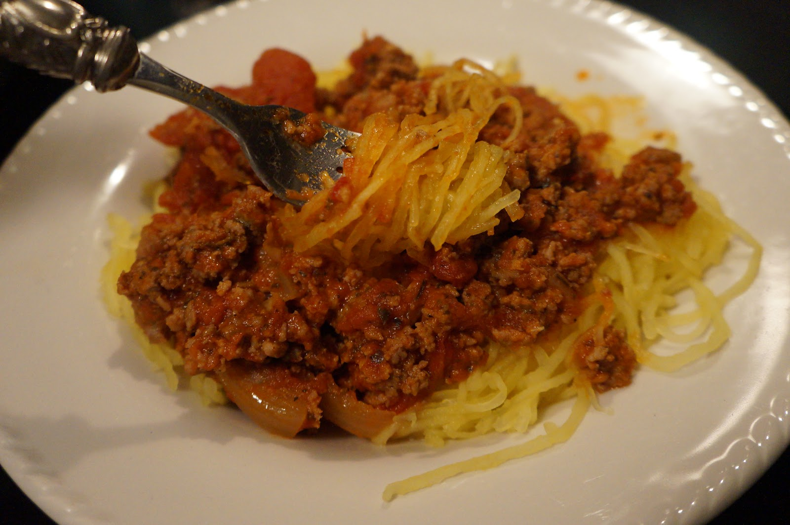 Fire Force CrossFit Paleo Blog: Spaghetti Squash with Meat Sauce