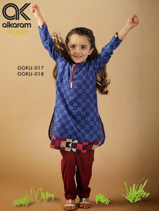 Alkaram kids wear collection 2014