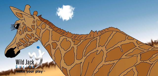 giraffe on a hot day