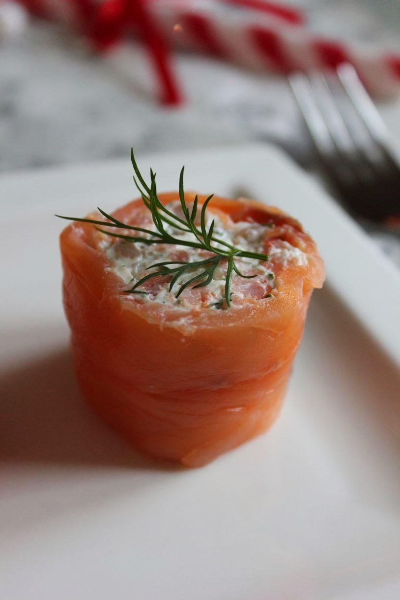 Bouchée de saumon aux crevettes roses
