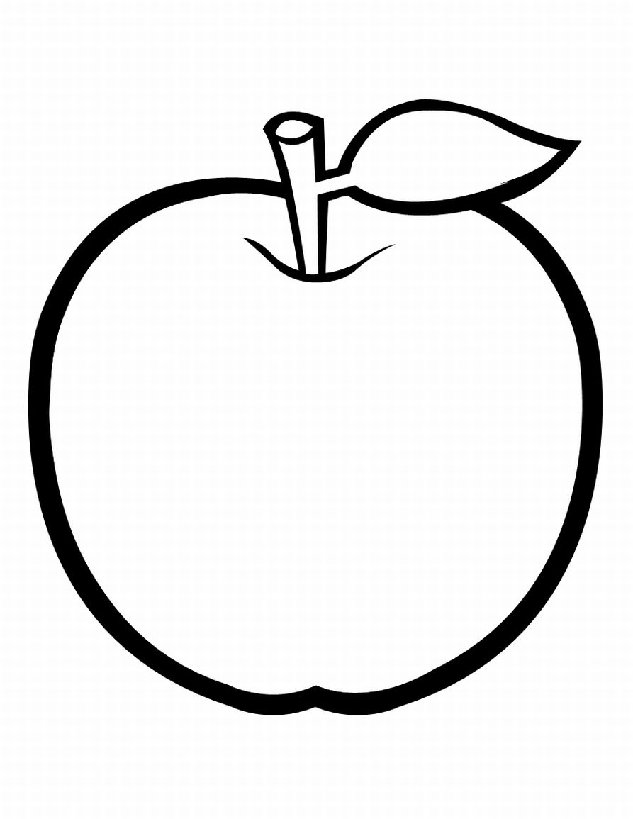 Frutas para colorir e pintar pintar e colorir - Dessin pomme apple ...