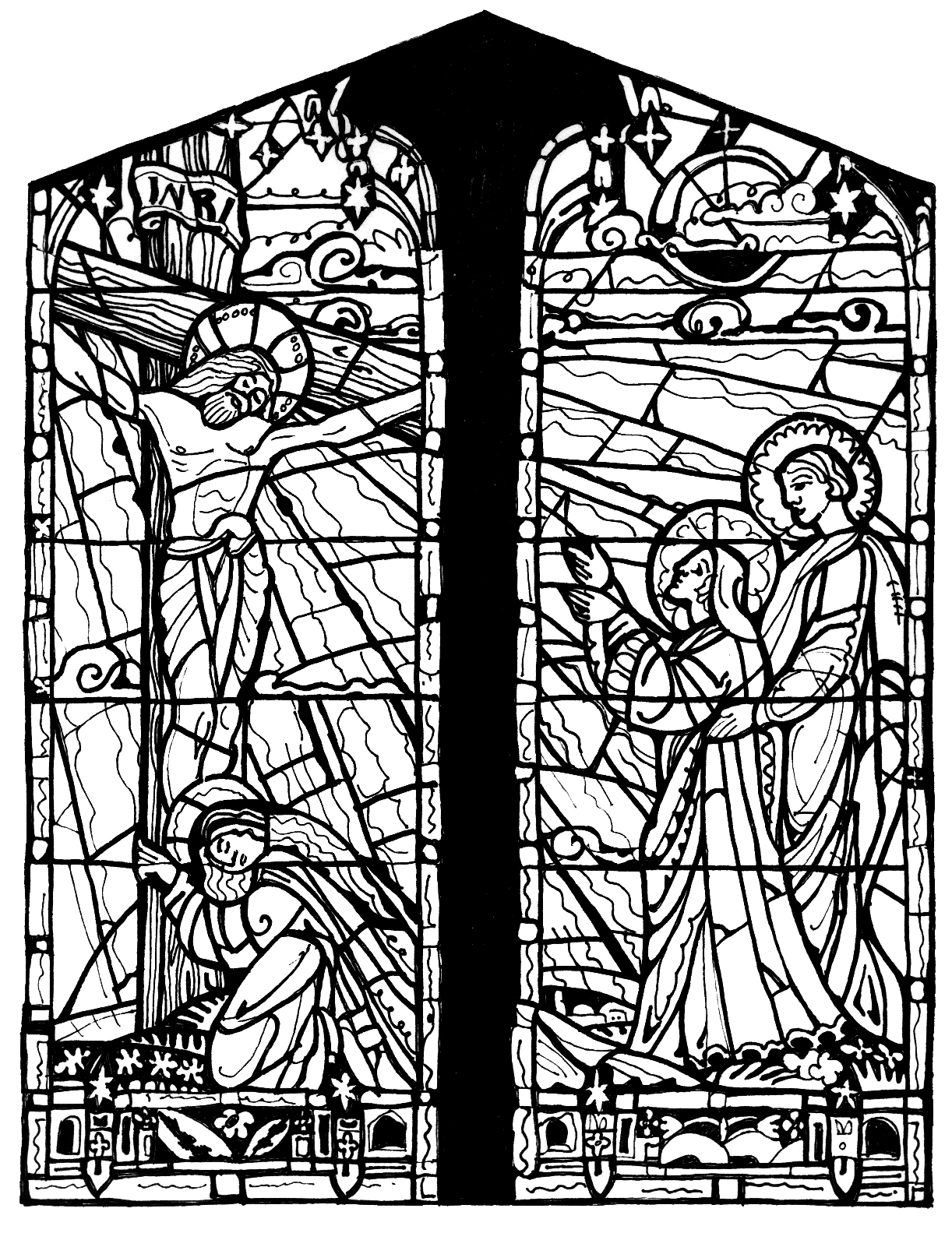 stained glass religious coloring pages - photo#18