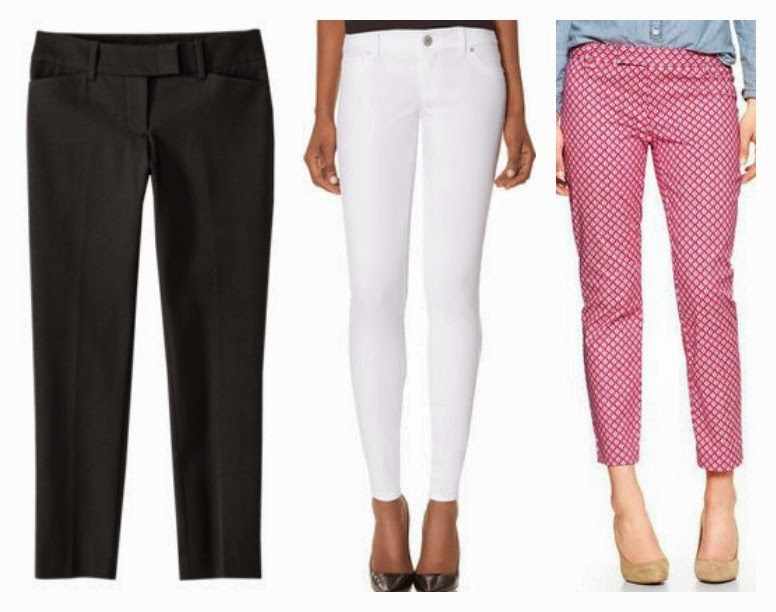 Shoes to wear with cropped pants, Printed Crops