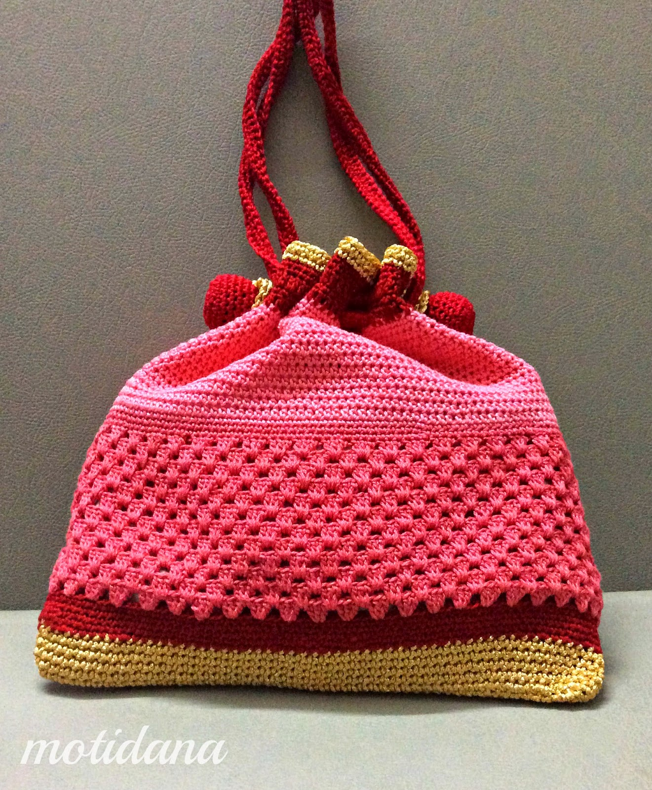 potli purse in crochet