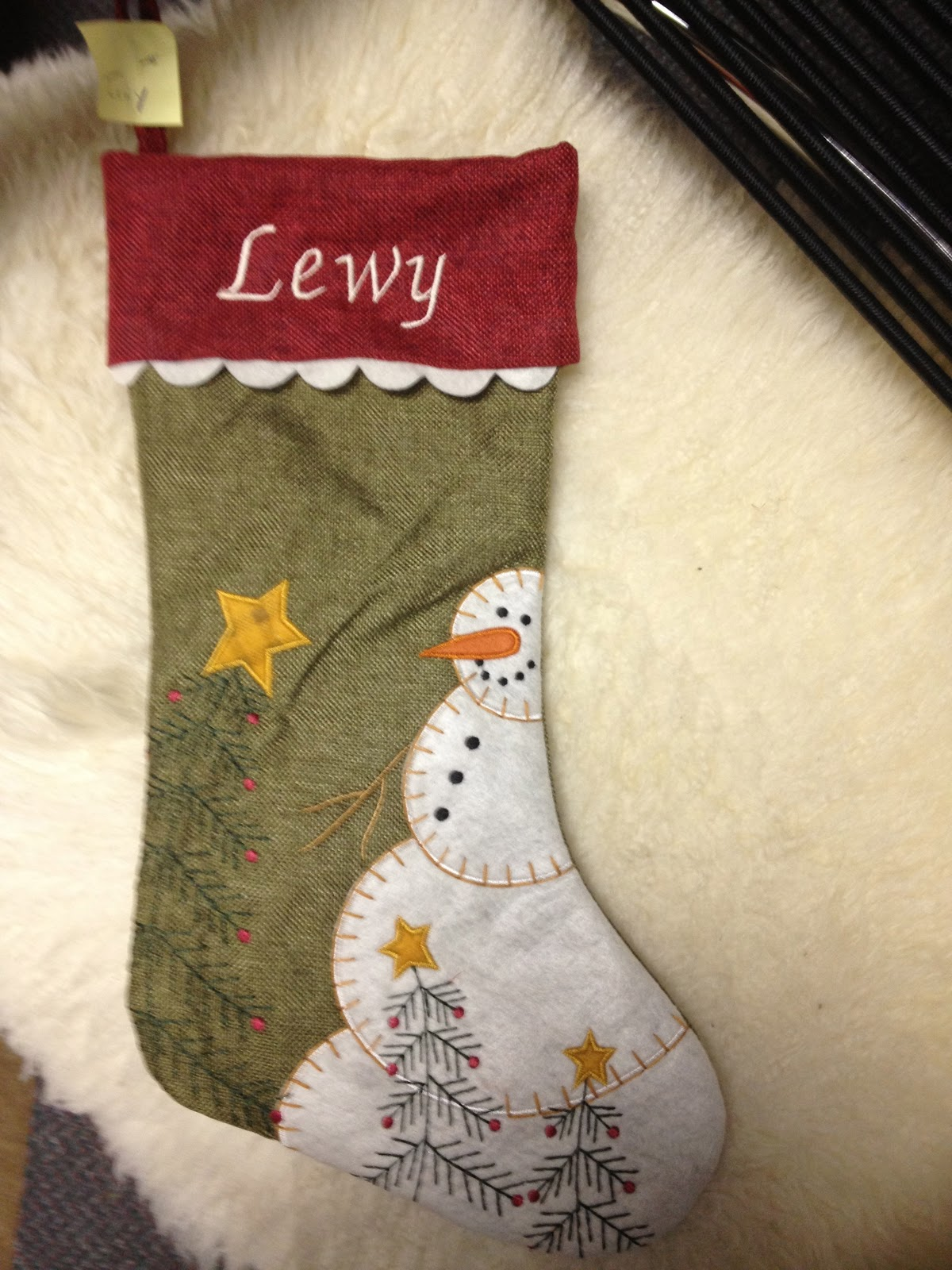 travelingranny embroidery put your name on stockings On how to put names on furry christmas stockings