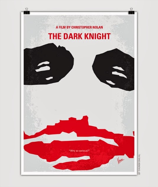 Batman Dark Knight poster minimalista