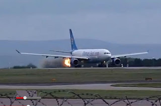 Engine failure of a Thomas Cook Airbus A330-200 at Manchester Airport