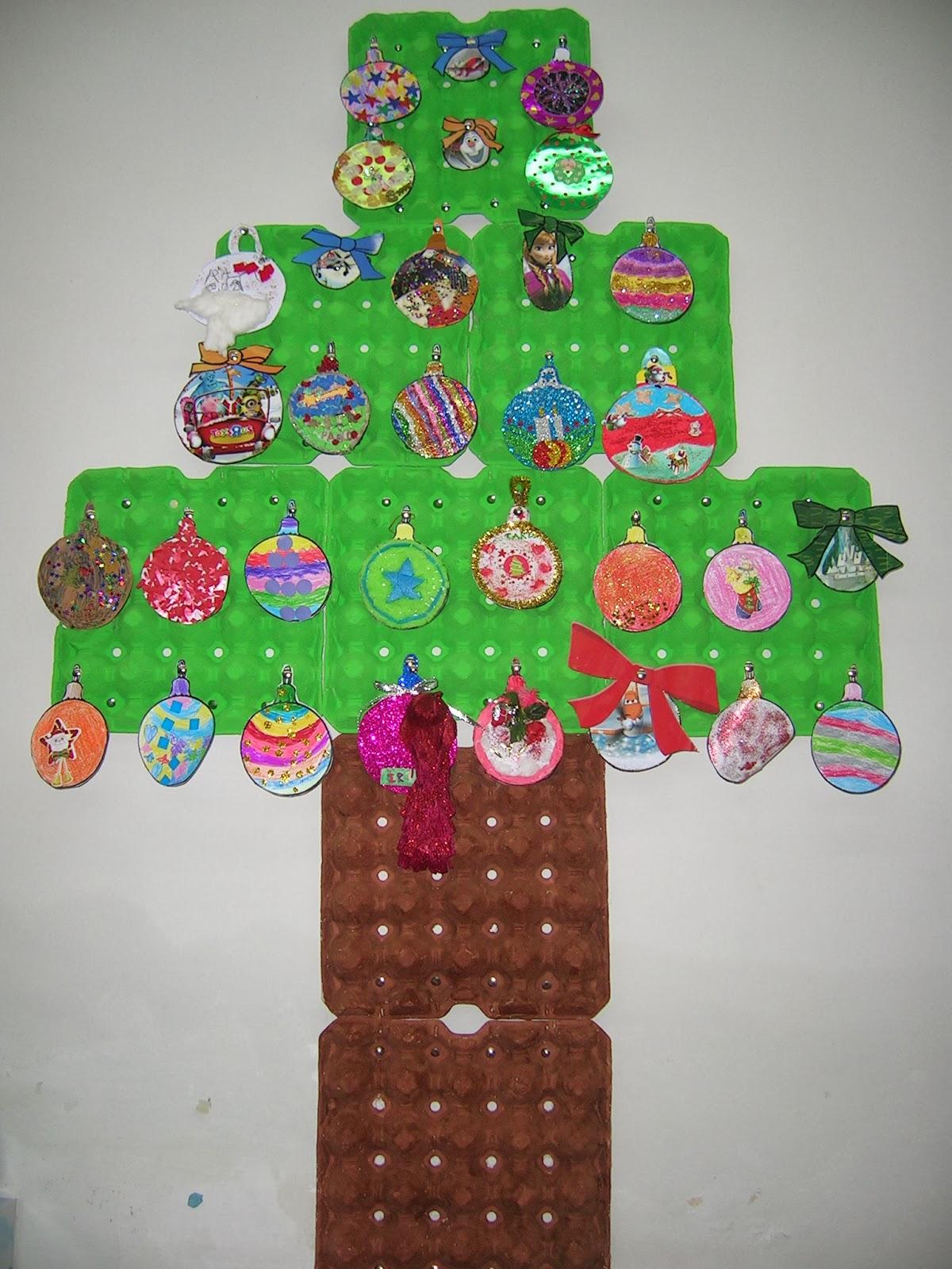 Trabajando en educaci n infantil rboles de navidad 2 for Arbol navidad infantil