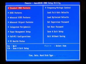 Tampilan Awal BIOS - cara menghidupkan laptop / komputer