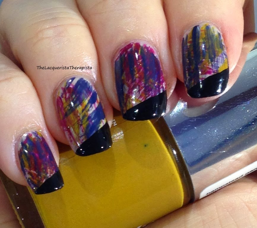 Fan Brush, nail art, french tip, fall colors