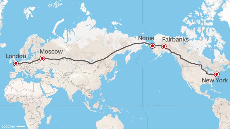 La Ferrovia più lunga del mondo collegherà Londra a New York