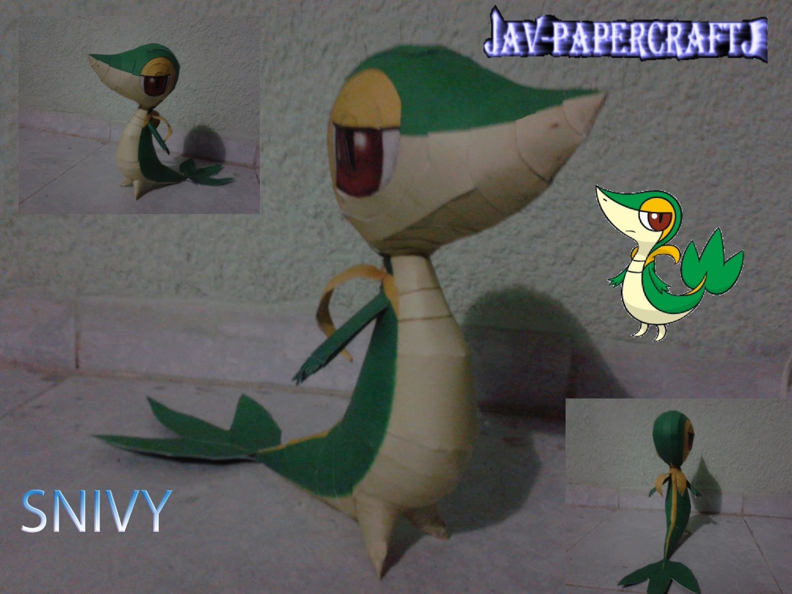 Pokemon Snivy Papercraft