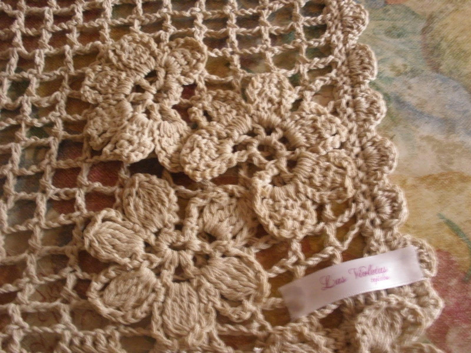 Cortina de flores a crochet for Cortinas artesanales