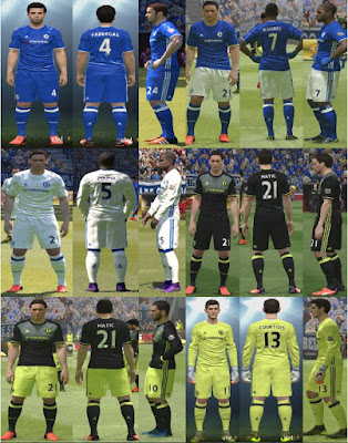 PES 2016 Chelsea Kit Pack 2016-2017 by YastRin