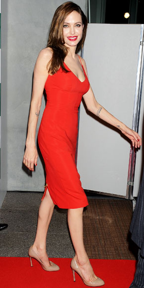 Angelina Jolie in Red Dress