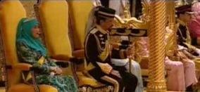His Majesty Sultan Haji Hassanal Bolkiah and Her Majesty Raja Isteri Pengiran Anak Hajjah Saleha